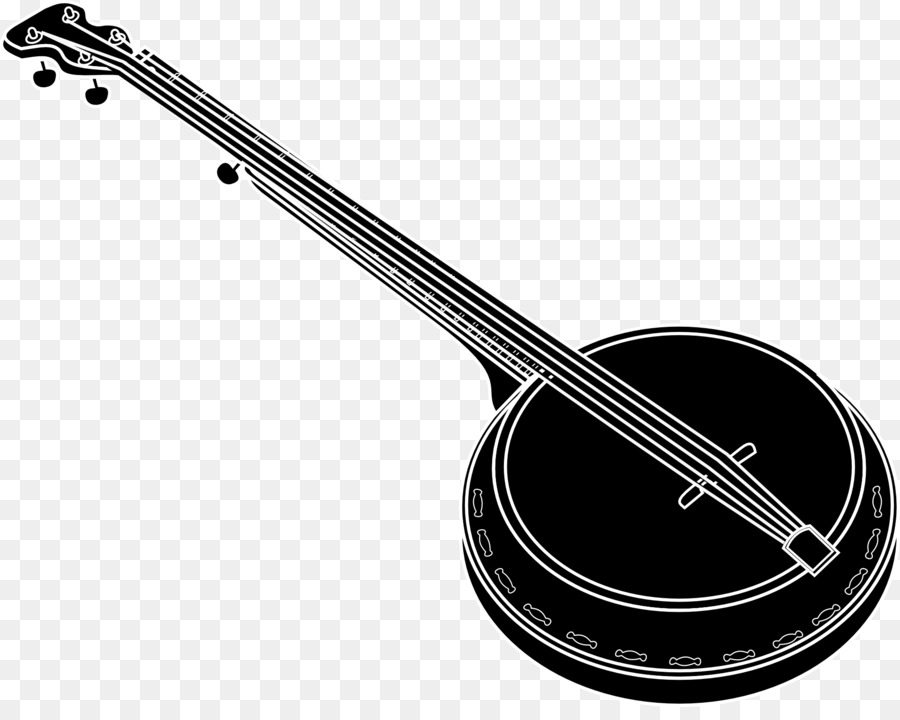Banjo clipart simple. Drawing musical instruments clip