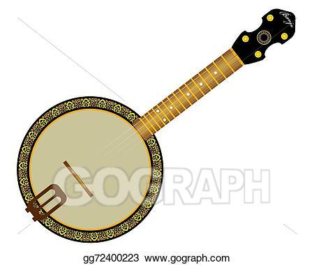 Vector stock illustration gg. Banjo clipart string instrument