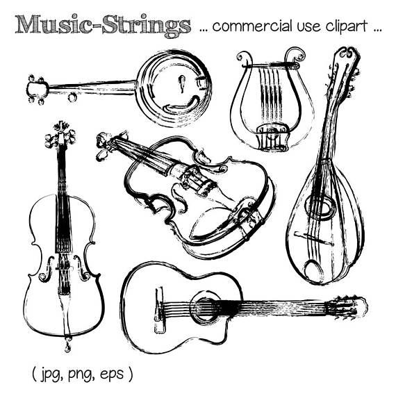 Banjo clipart string instrument. Music guitar