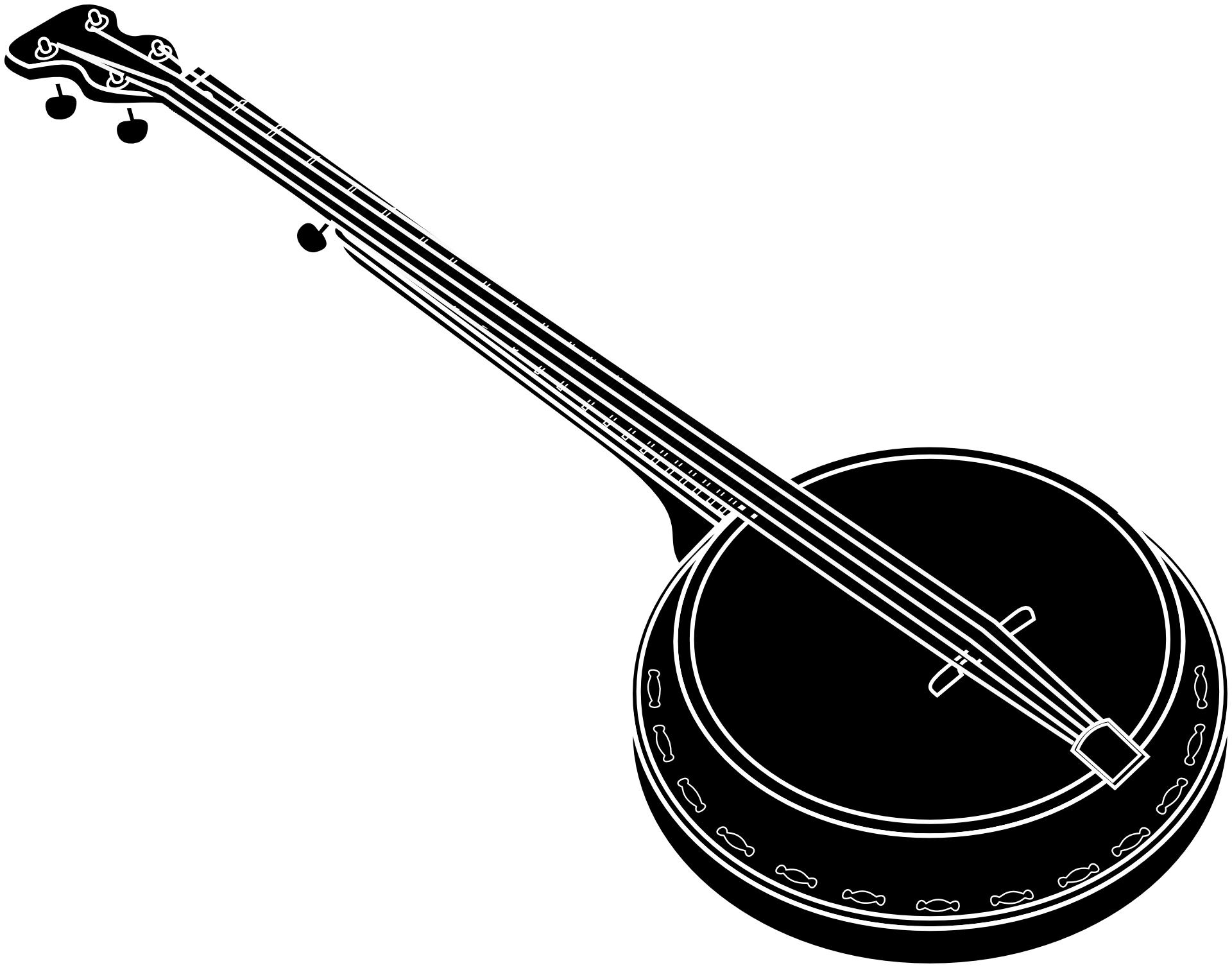 Musician clipart folk music. Banjo drawing musical instruments