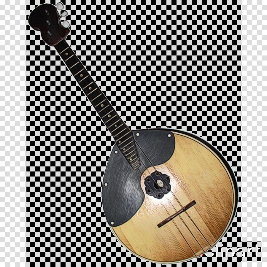 Guitar musical . Banjo clipart string instrument