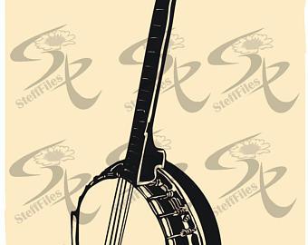 Banjo clipart svg. Etsy vector musical instrumentclipartsvgdxfaipng