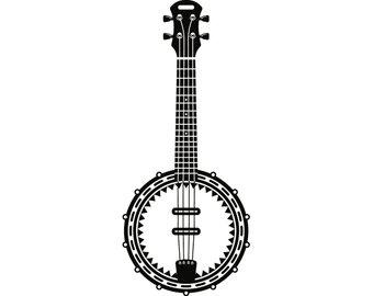 Folk art etsy musical. Banjo clipart svg