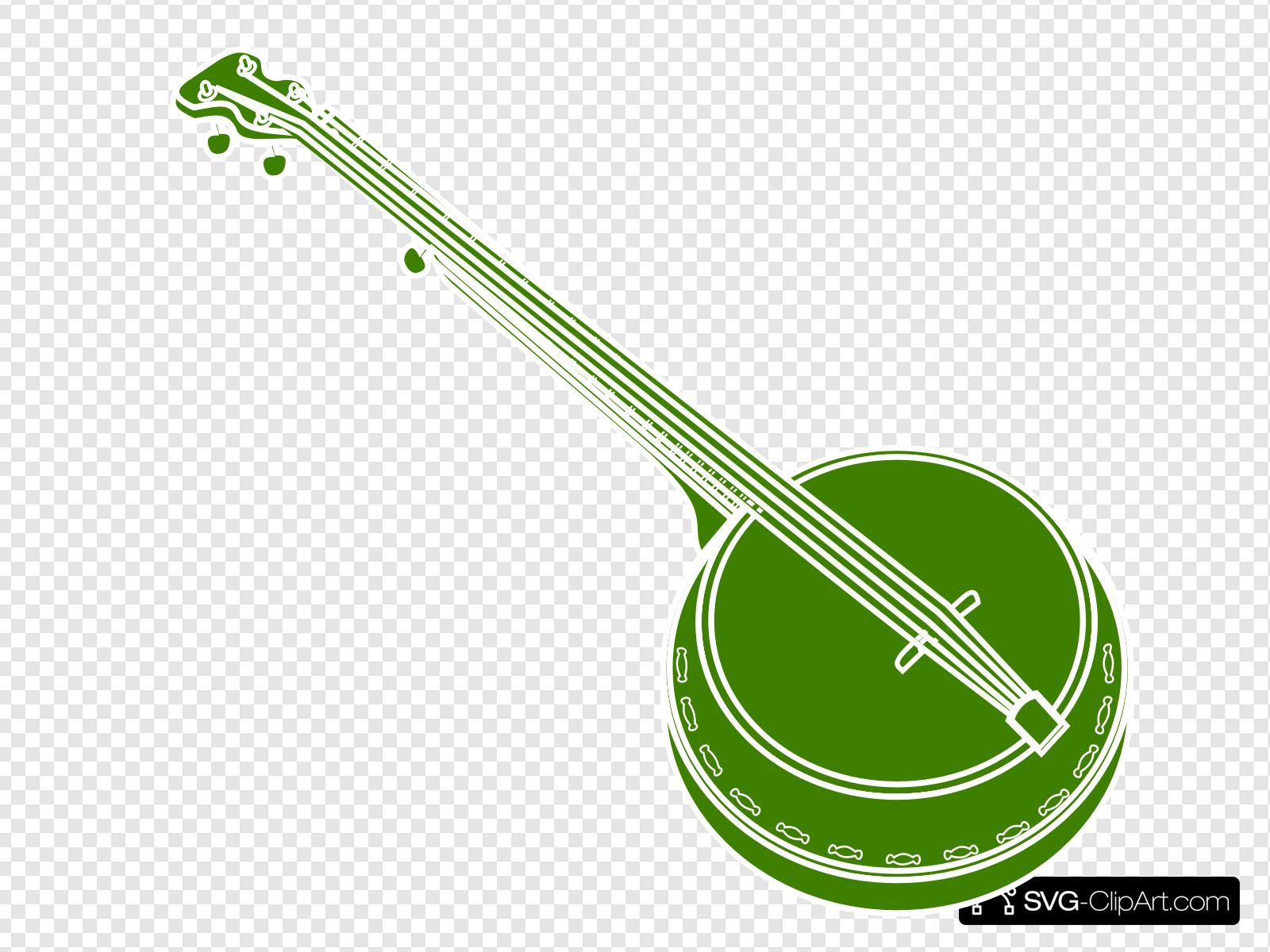 Banjo clipart svg. Clip art icon and