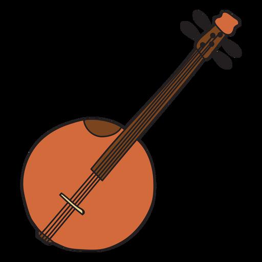 Banjo clipart transparent. Musical instrument doodle png