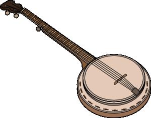 Banjo clipart transparent. Clip art at clker