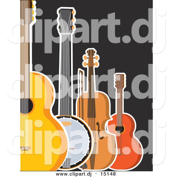 Banjo clipart ukulele. Of a guitar violin