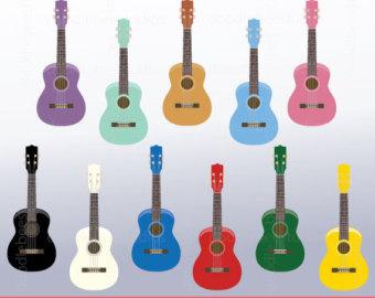 Banjo clipart ukulele. Music string instrument guitar