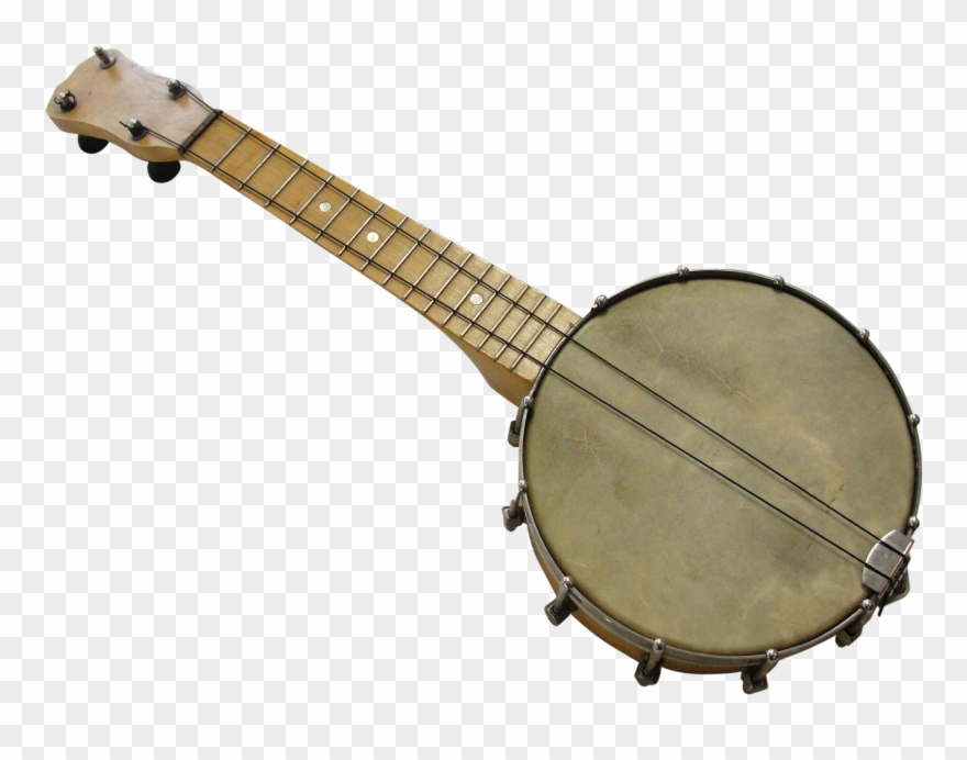 Vintage concertone banjolele musical. Banjo clipart ukulele