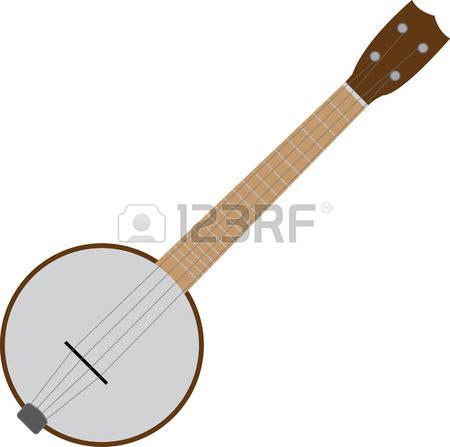 Banjo clipart vector.  string clipground stock
