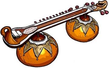 Classical carnatic music home. Banjo clipart veena