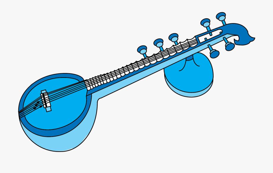 Instruments instrument . Banjo clipart veena