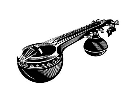 Banjo clipart veena. Amazon com yetta quiller