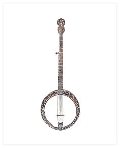 Banjo clipart watercolor. Silhouette google search pinterest