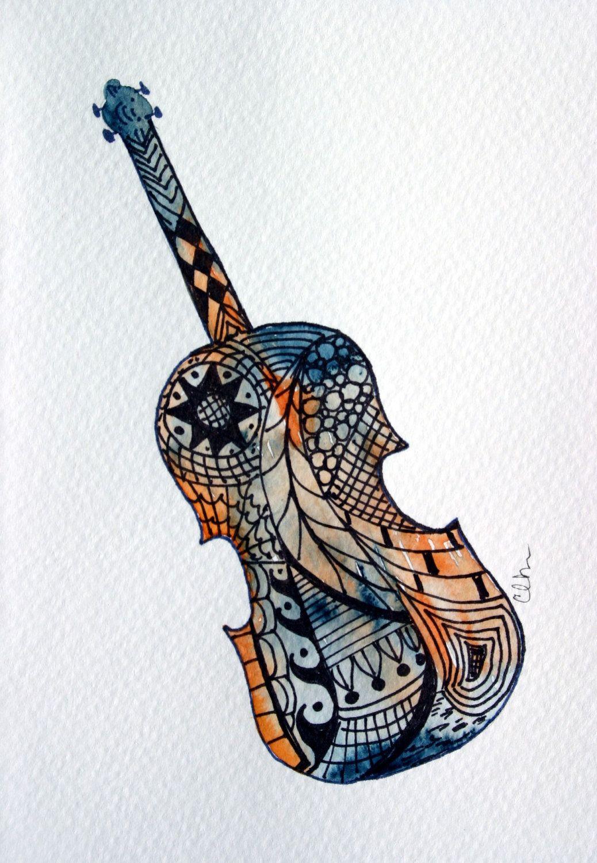 Banjo clipart watercolor. Card no fiddle violin