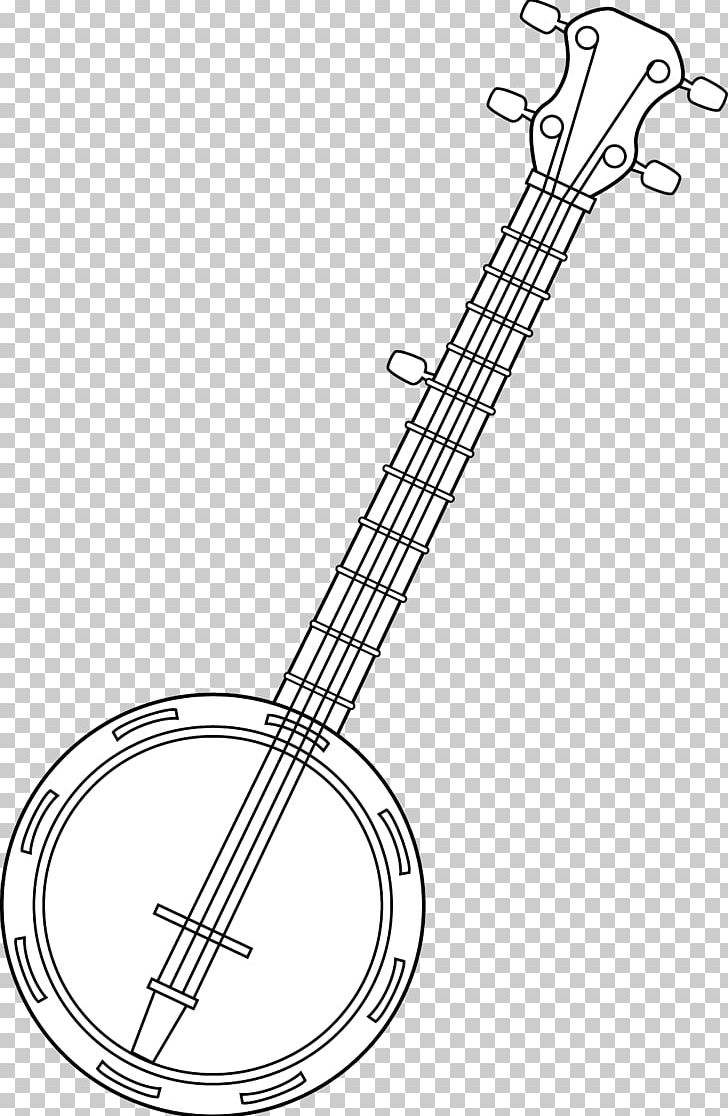 Banjo clipart western guitar. Musical instruments drawing line