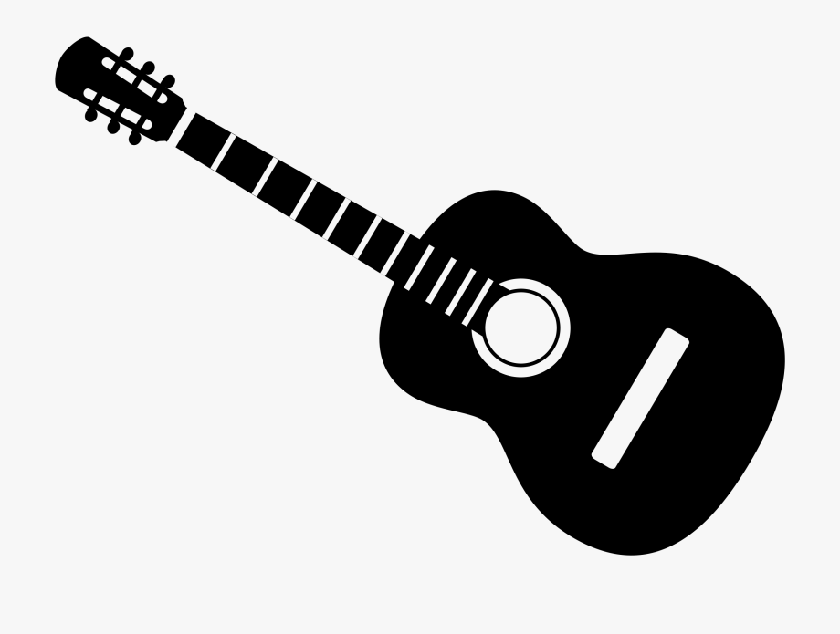 Acoustic clip art many. Clipart guitar silhouette