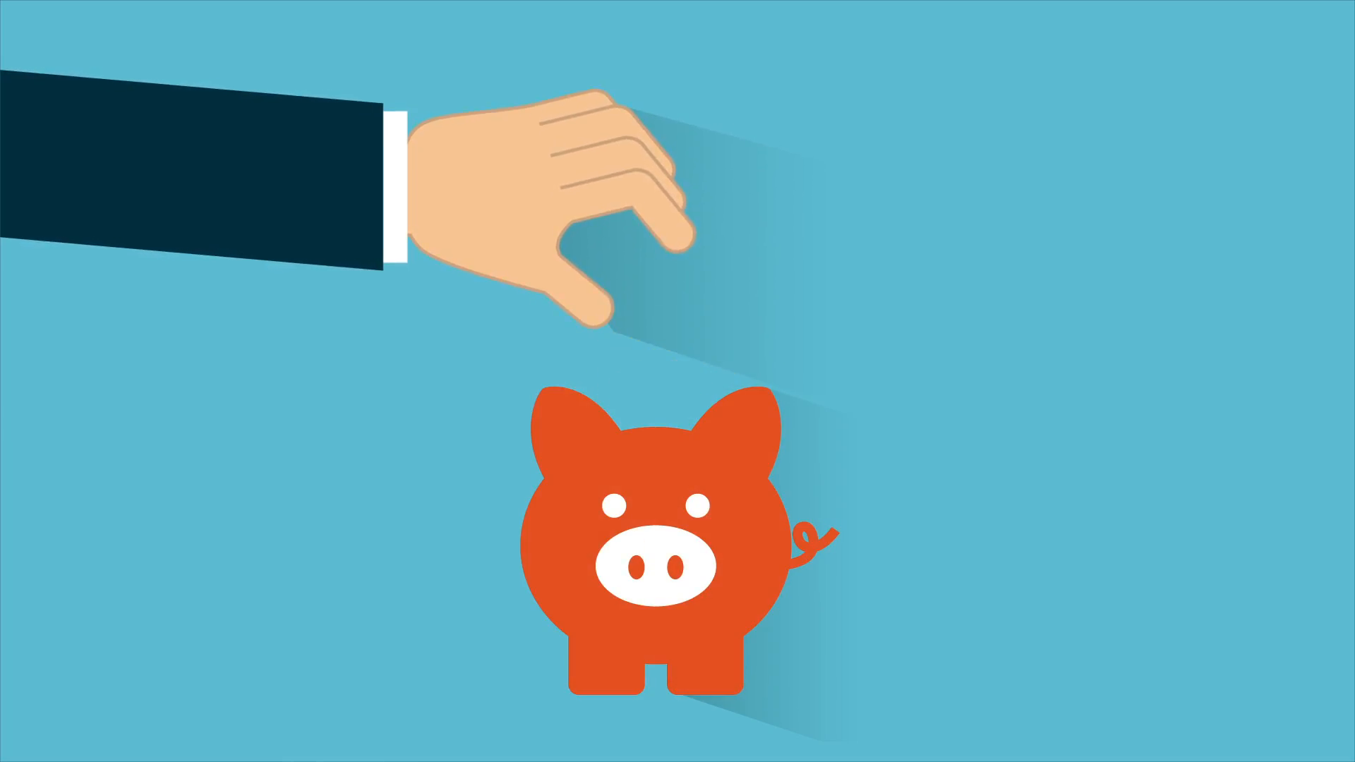 Bank clipart animated. Piggy video animation stock