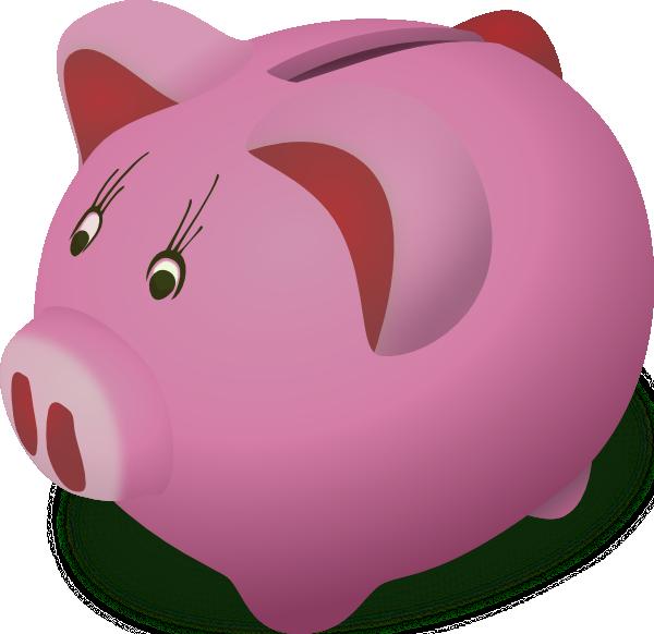 Piggybank pink clip art. Bank clipart animated