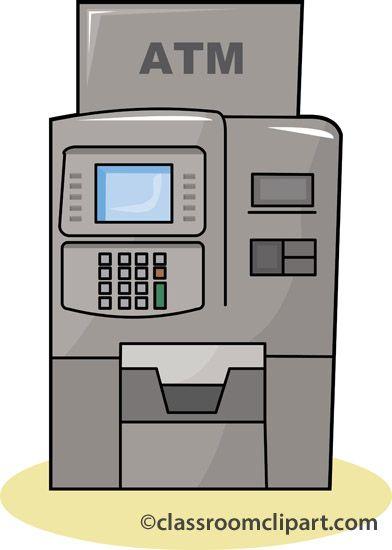 Money machine classroom teaching. Bank clipart atm clipart