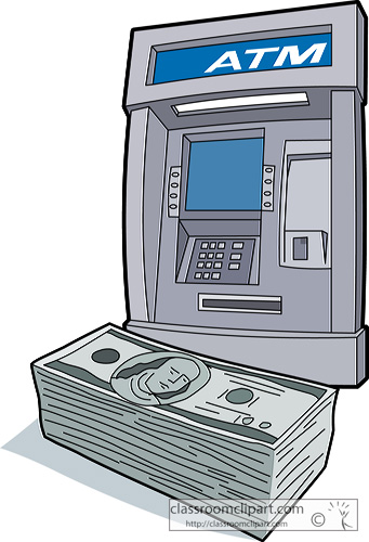 Bank clipart atm clipart. Money jpg clipartix