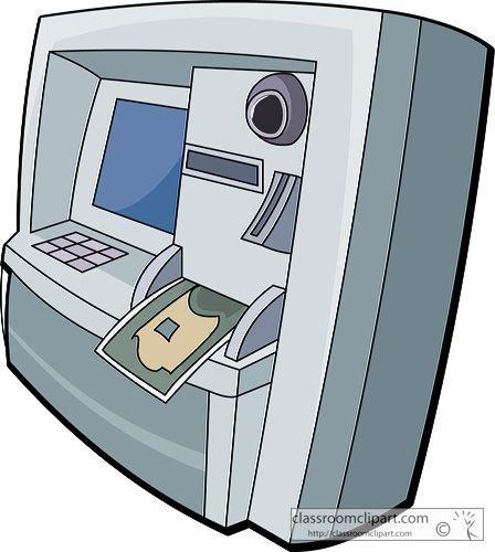 Bank clipart atm clipart. Machine station