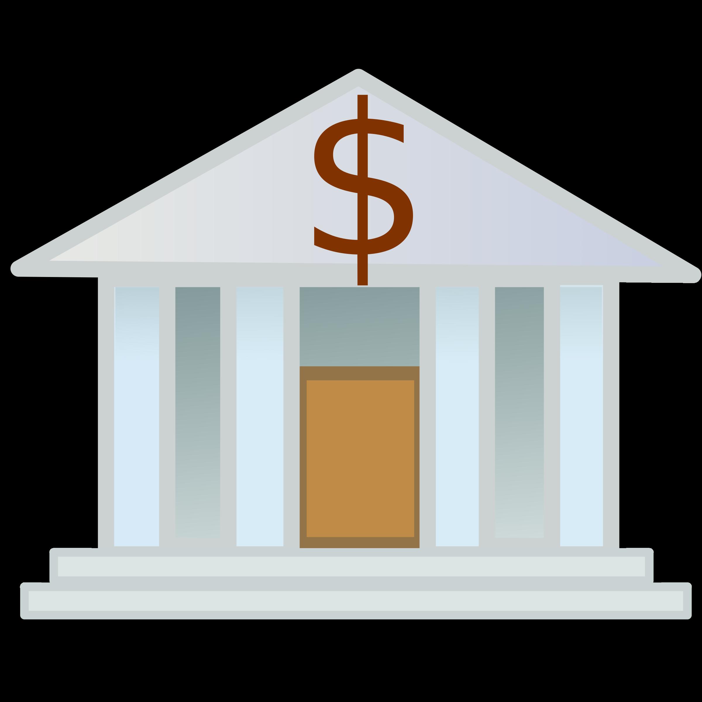 Dollar clipart supreme. Bank building panda free
