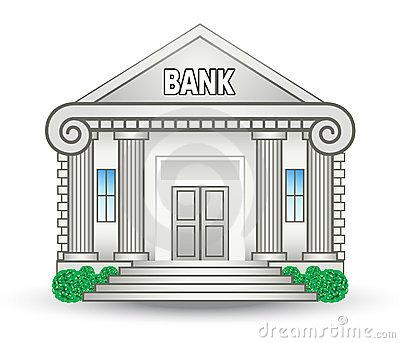 Banker clipart clip art. Bank building station