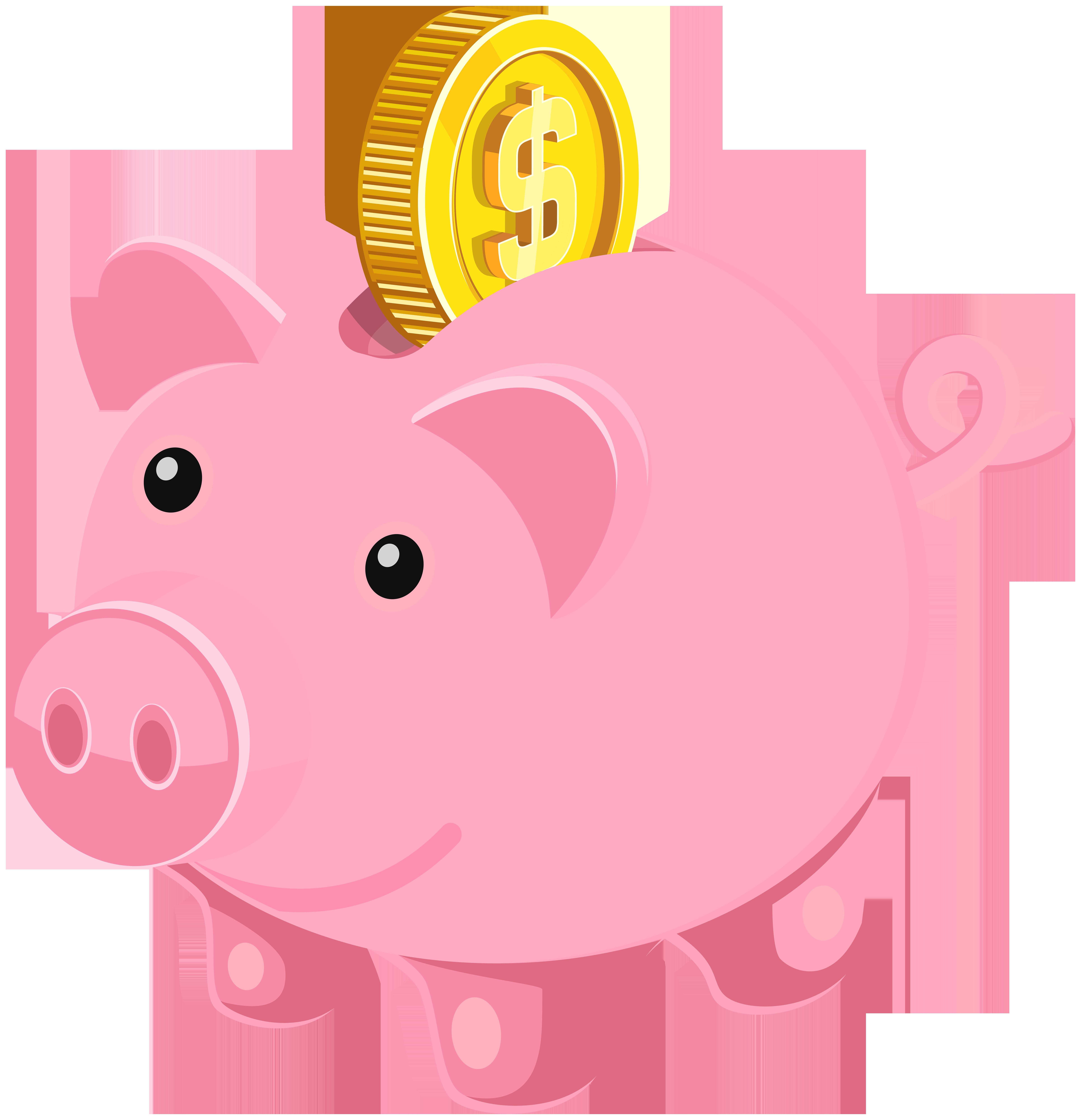 Clipart pig bank. Piggy png clip art