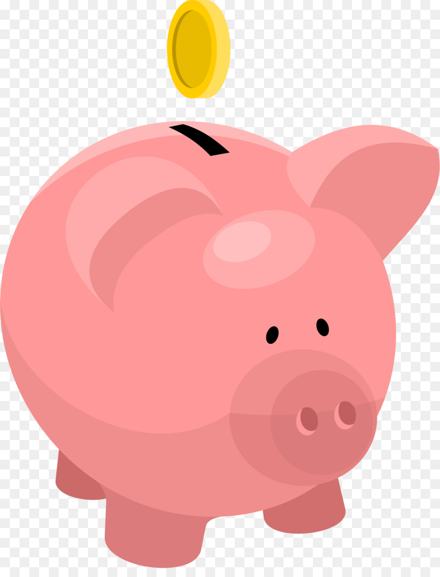 Piggy red transparent clip. Bank clipart bank money