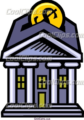 Bank clipart bank money. Putting in the vector
