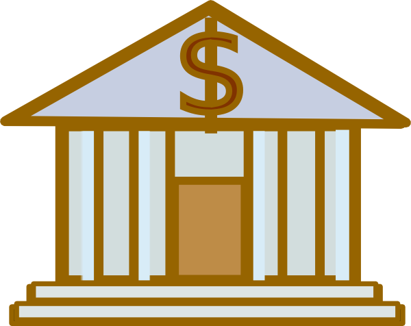 Bank clipart bank sign. Dollar brown clip art