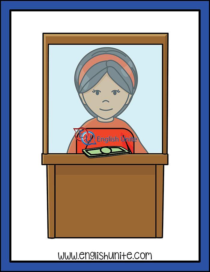 Bank clipart bank teller. Worker clip art