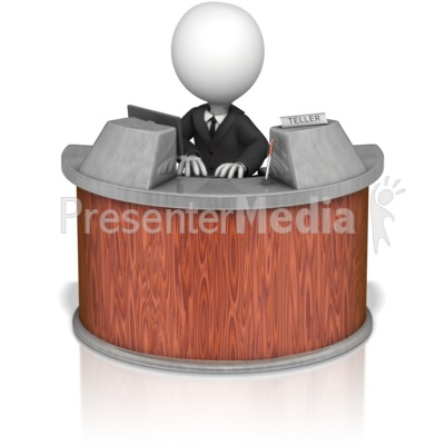 Cashier clipart bank employee. Teller presentation great for