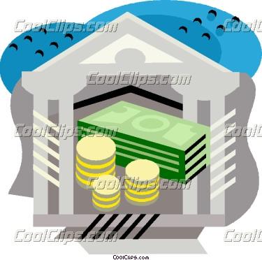 Bank clipart banking. Money vector clip art