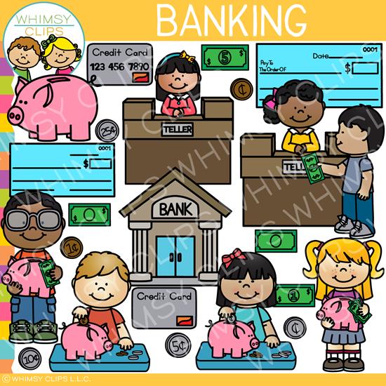 Bank clipart banking. Kids clip art