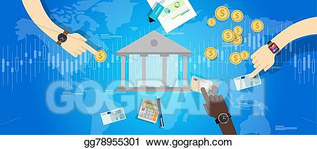 Vector international central . Bank clipart banking industry