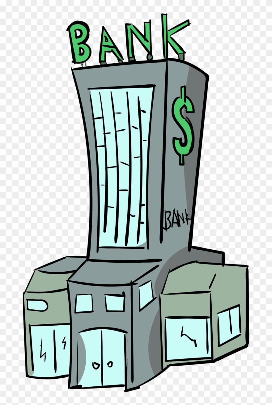 Bank clipart cartoon. Bangunan png transparent
