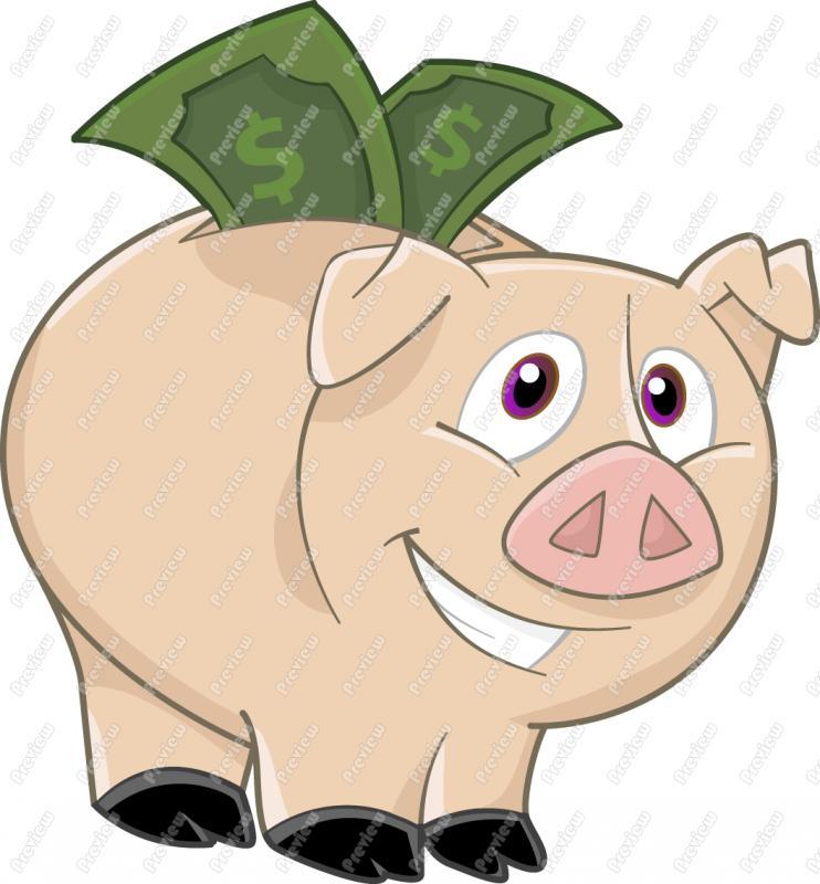 Piggy clip art . Bank clipart cartoon