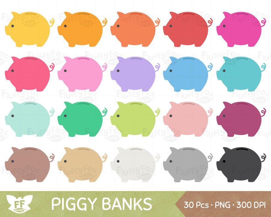 Cash clipart cute. Piggy bank piggybank clip