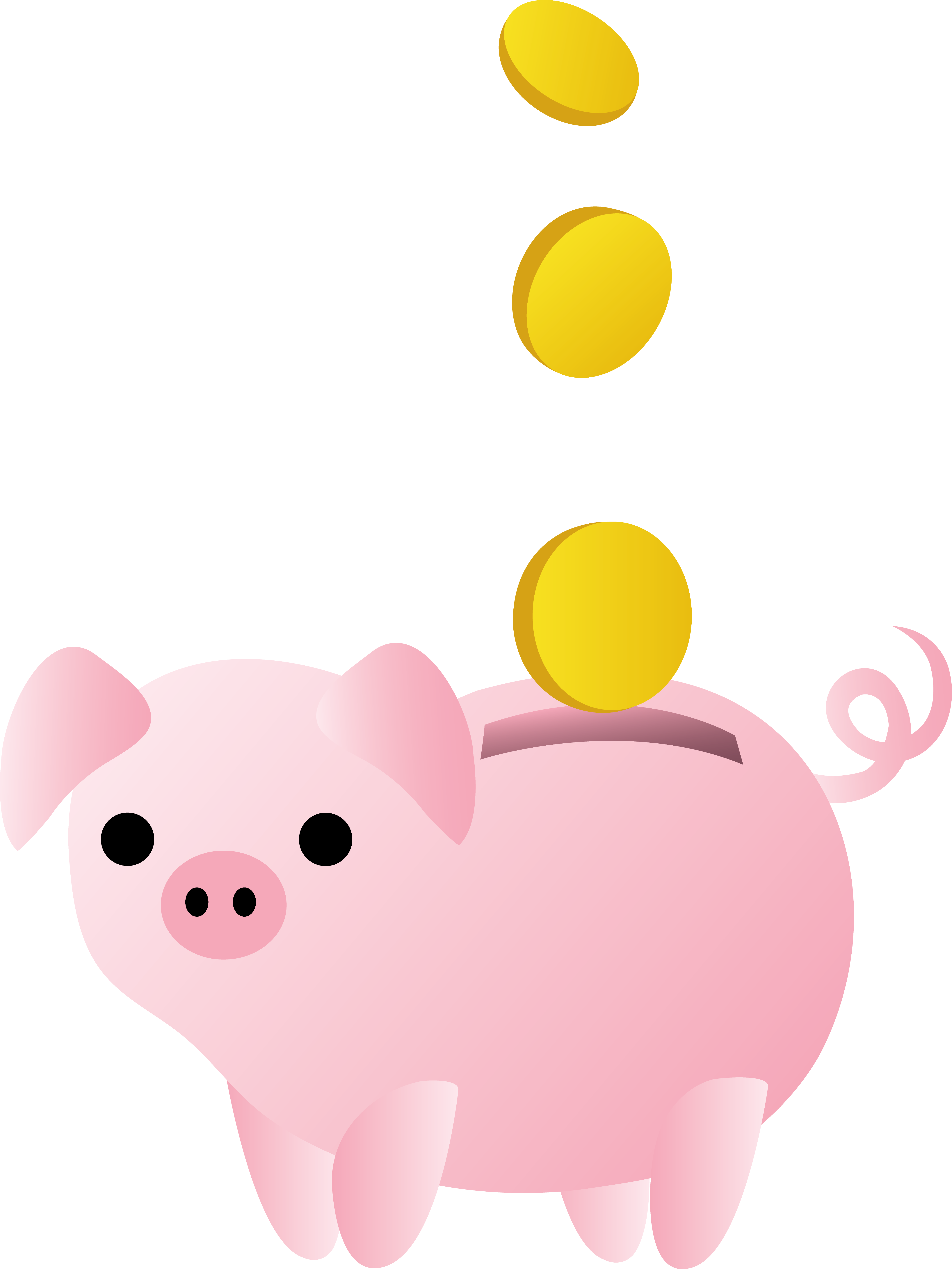 Bank clipart cute. Piggy with coins free
