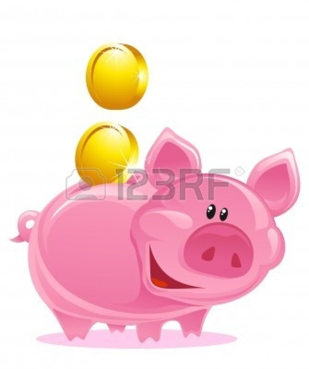 Piggy . Bank clipart cute