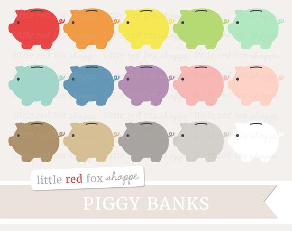 Bank clipart cute. Piggy money clip art