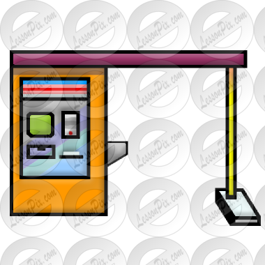 Through picture for classroom. Bank clipart drive thru