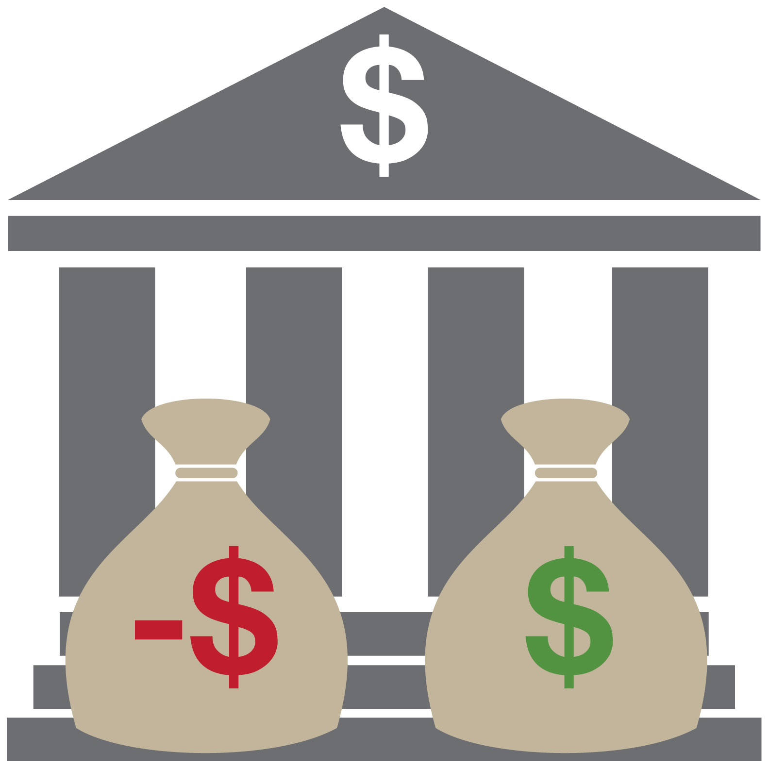 Bank clipart financial institution. Accounts for bankrupt people