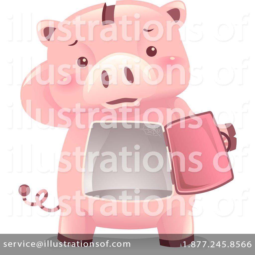 Piggy by bnp design. Bank clipart illustration