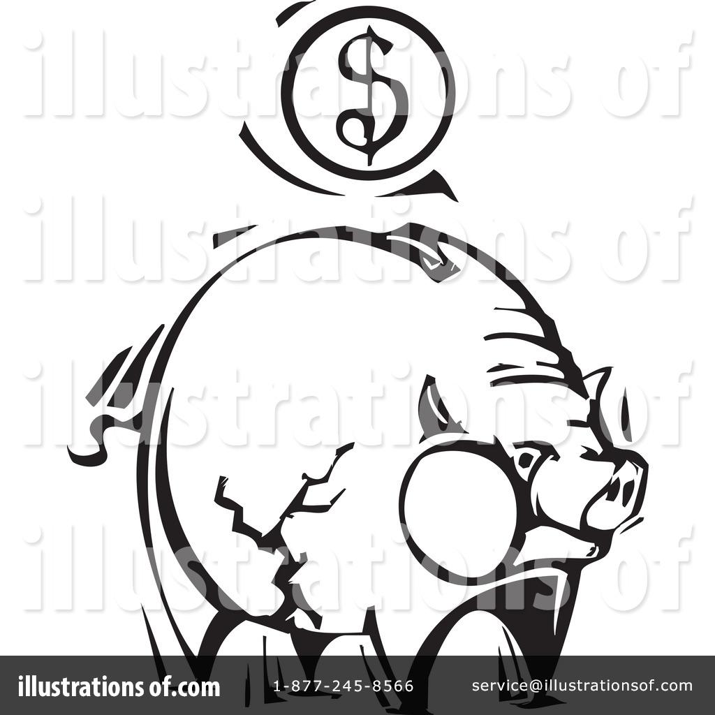 Piggy by xunantunich royaltyfree. Bank clipart illustration