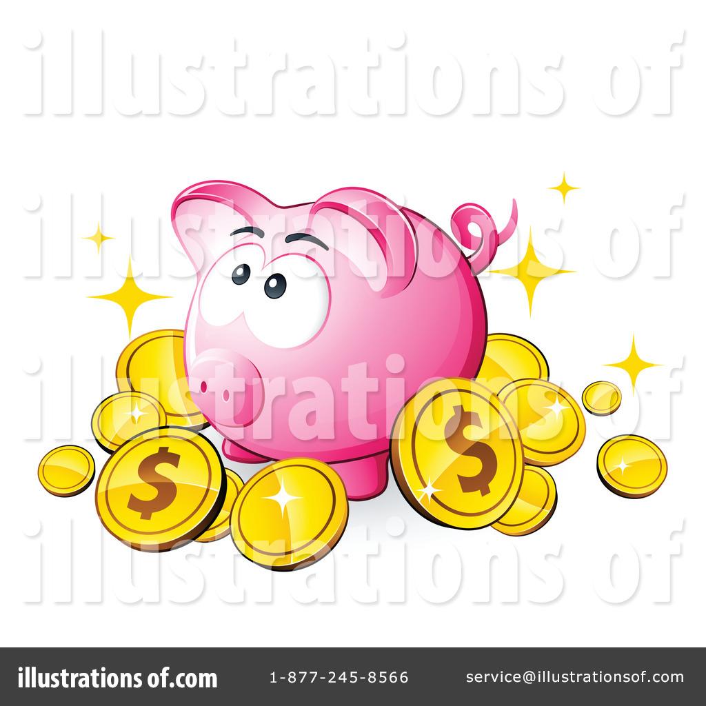 Bank clipart illustration. Piggy by beboy royaltyfree
