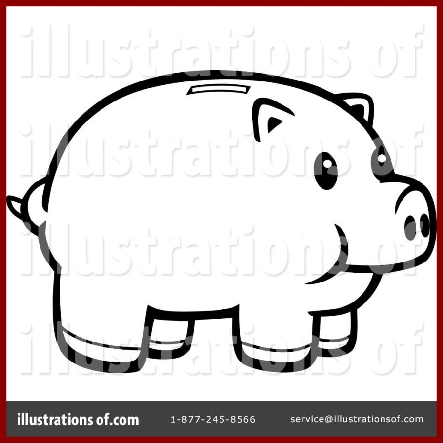 Bank clipart illustration. The best piggy by