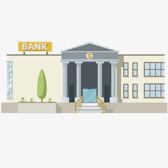 Bank clipart illustration. Flat finance banking business